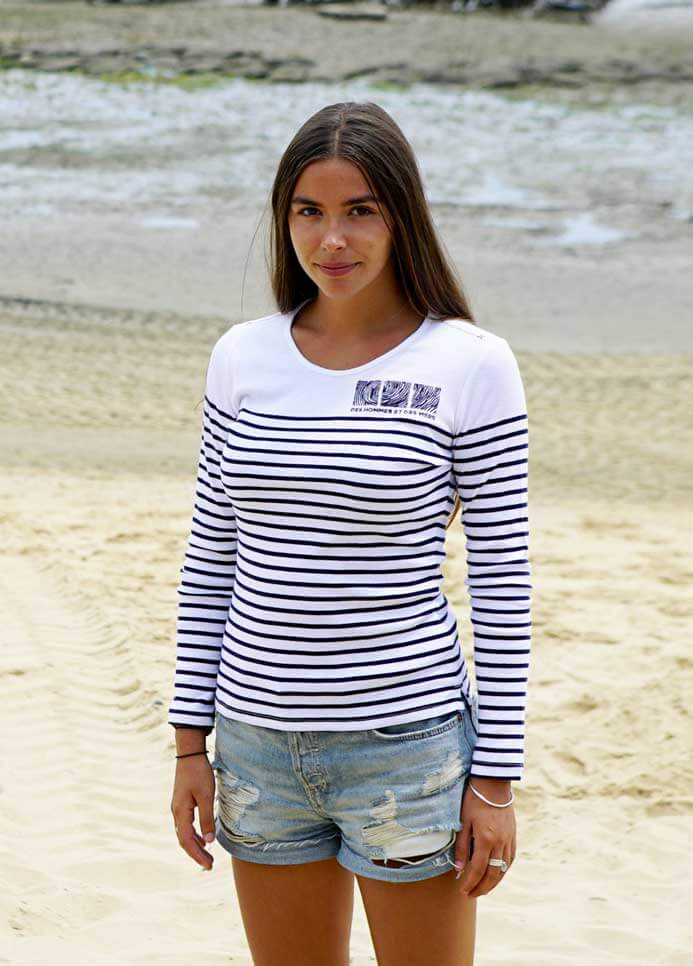Mariniere blanche t-shirt DHEDM